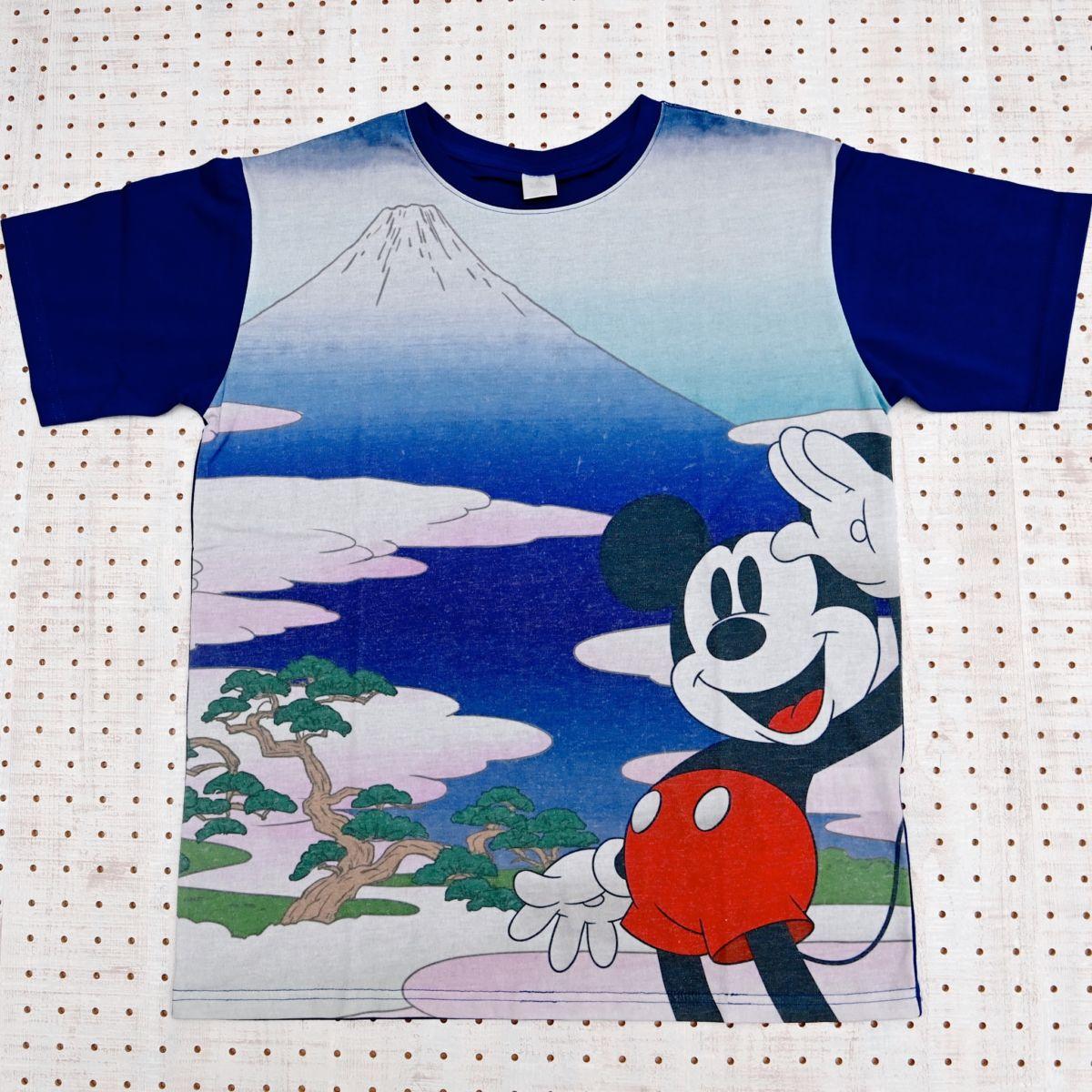 ミッキー 半袖Tシャツ ネイビー Ukiyoe Japan