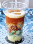エビとサラダの冷やし麺(トマトソース)