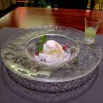 フロマージュブランのパンナ・コッタとシトラスグラニテメロンのクーリ