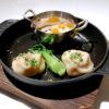 上海焼き小籠包と南瓜の蟹肉あんかけ
