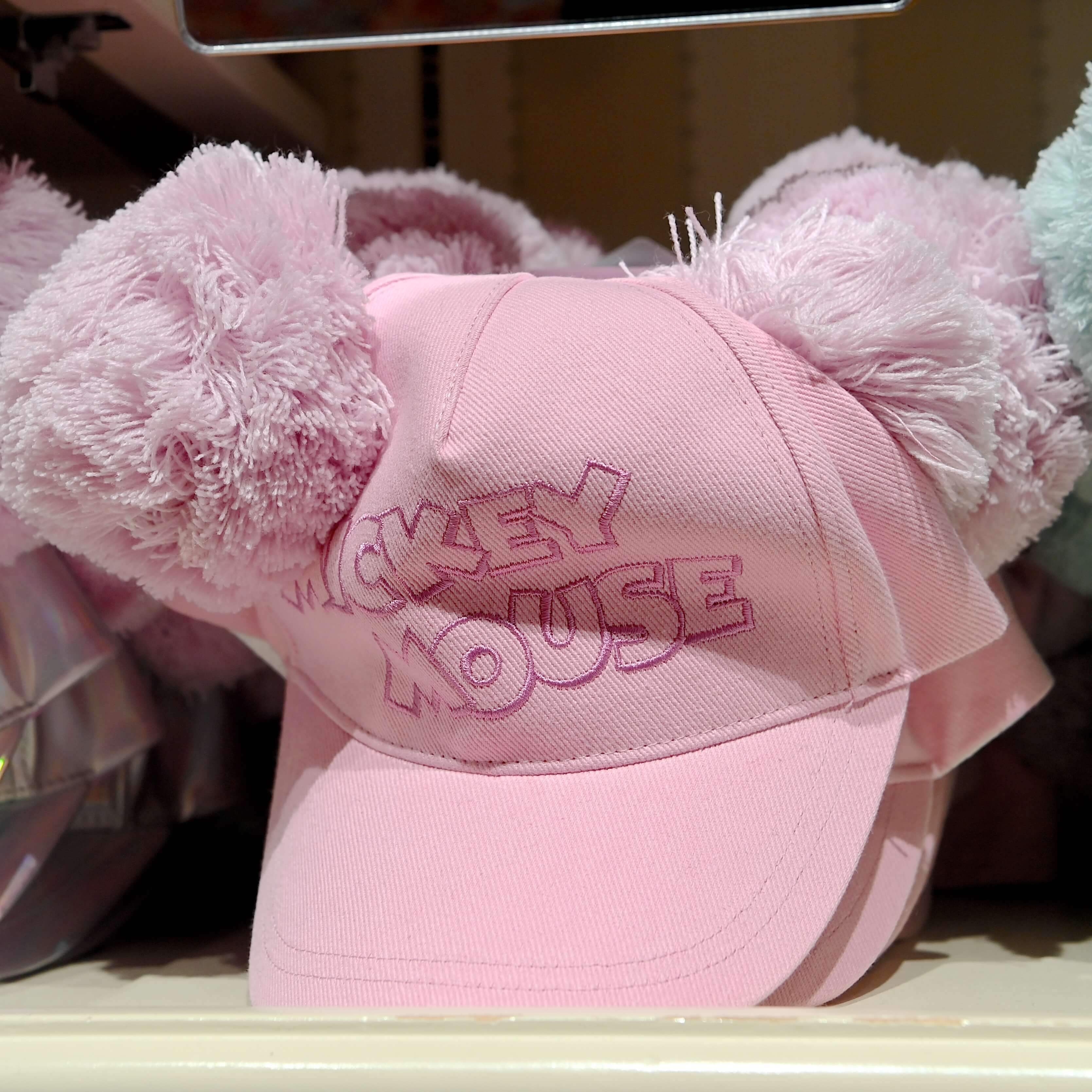 ミッキーお耳ポンポンキャップ(ピンク)