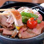 ローストビーフ丼 箸上げ