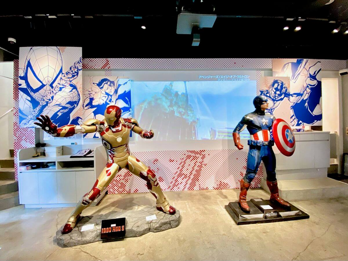 「MARVEL」cafe produced by OH MY CAFE1Fアイアンマン キャプテン・アメリカ