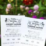 東京ディズニーランド ミッキー&ミニーお誕生日レシート