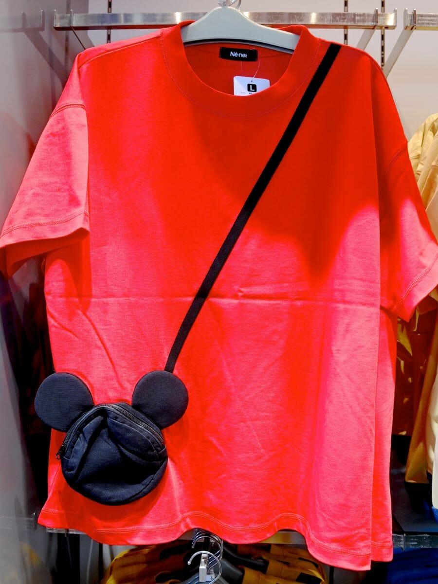 Tシャツ(Ne−net)ミッキーポシェット レッド