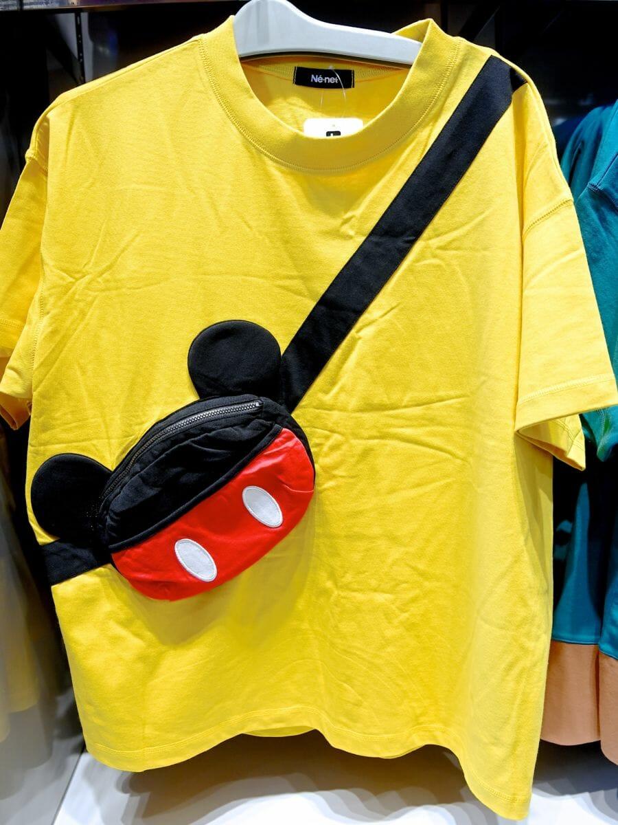 Tシャツ(Ne−net)ミッキーボディバッグデザイン イエロー