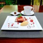 クリームチーズとドライフルーツのテリーヌ マンダリンオレンジソルベ