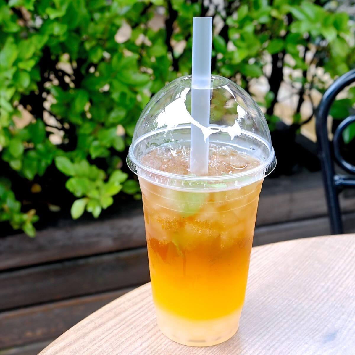 ライチータピオカティー(オレンジ&ウーロン茶)