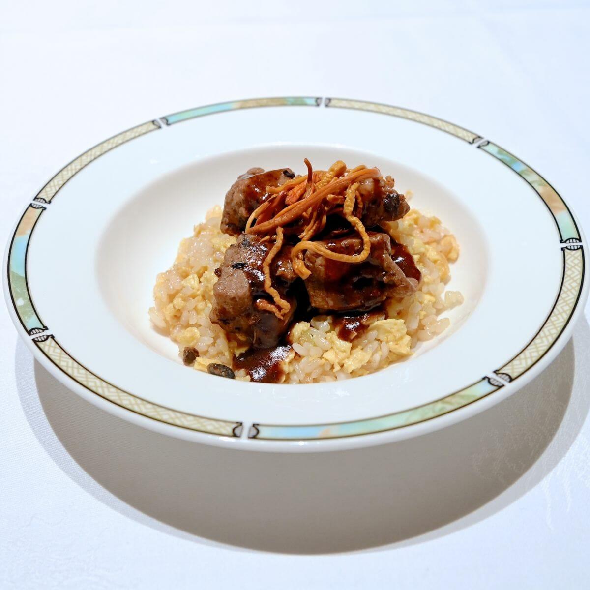 豚肉のトウチー蒸しのせ炒飯