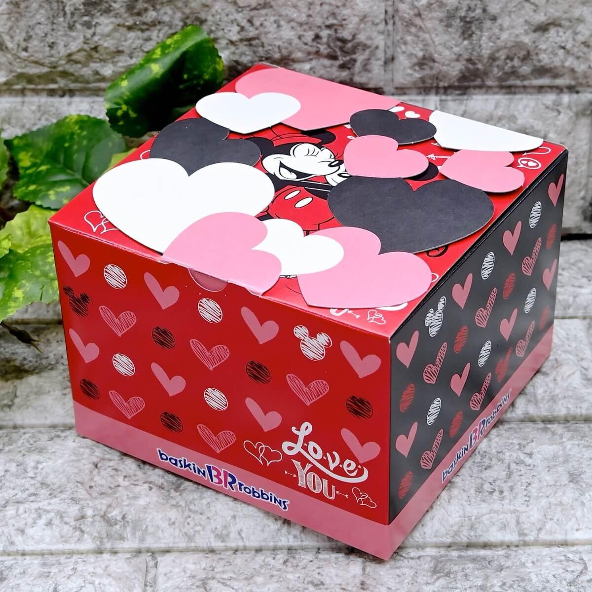 サーティワン アイスクリーム ディズニー「ミッキー&ミニー ハートボックス」ボックス