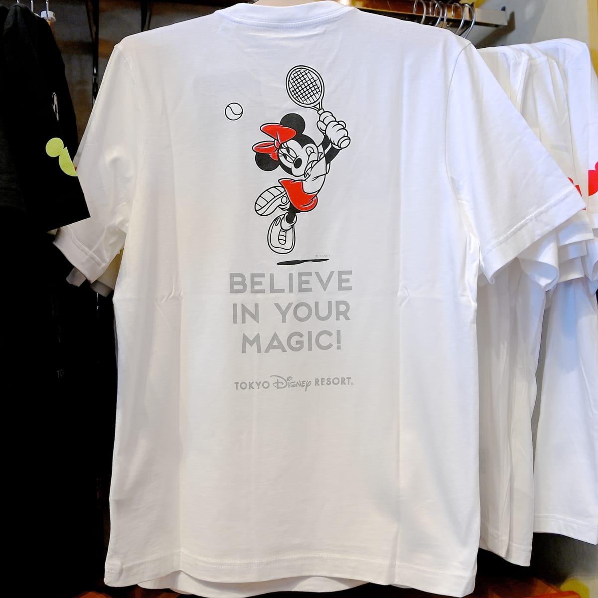 Tシャツ〈adidas〉ミニーマウス テニス バックデザイン