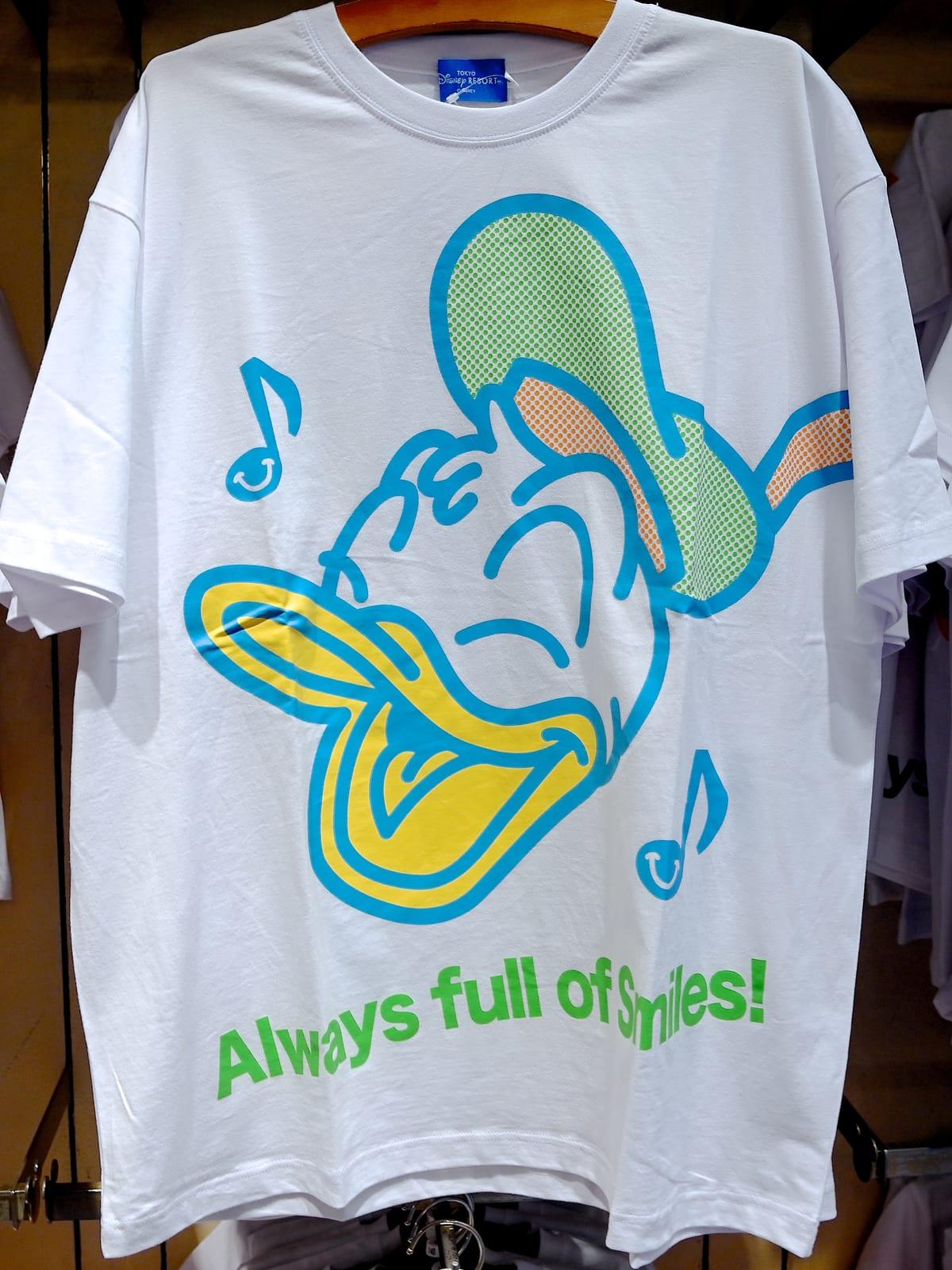 ドナルドダックTシャツ(Smiles all around!)
