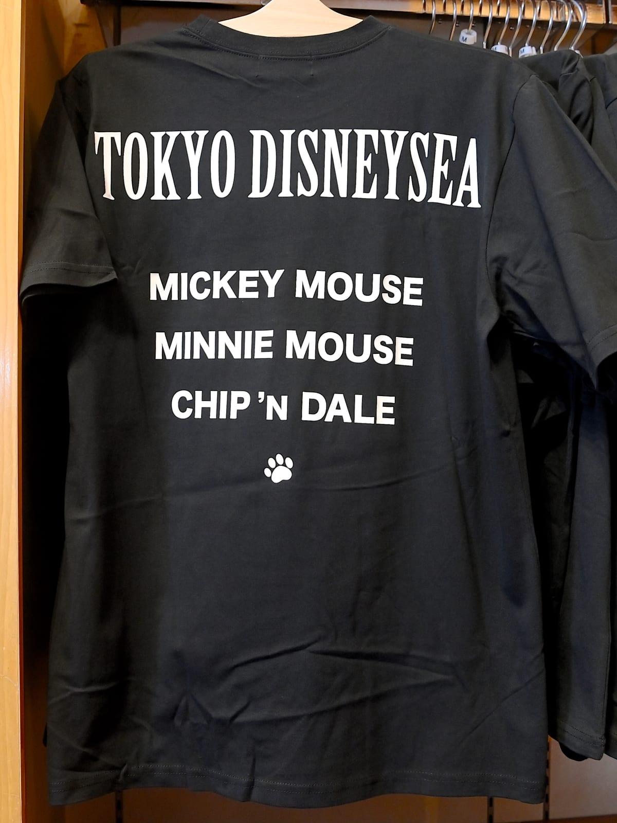 東京ディズニーシー(キャラクターサイン入り)Tシャツ バックデザイン