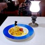 パッションフルーツムースとマスカルポーネクリームのクレープ