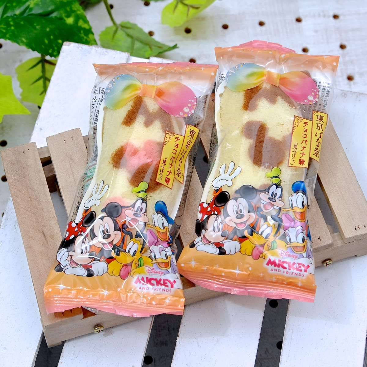 「Disney SWEETS COLLECTION by 東京ばな奈」パッケージ個包装