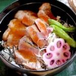 サーロインステーキ丼 和風ソース3