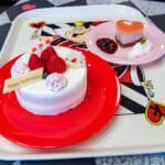 アンバースデーケーキとハートのストロベリームース