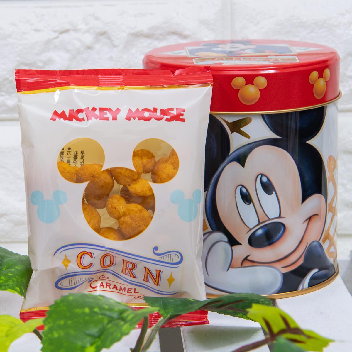 ミッキーマウス/コーン キャラメル味 数量限定スペシャル缶 中身