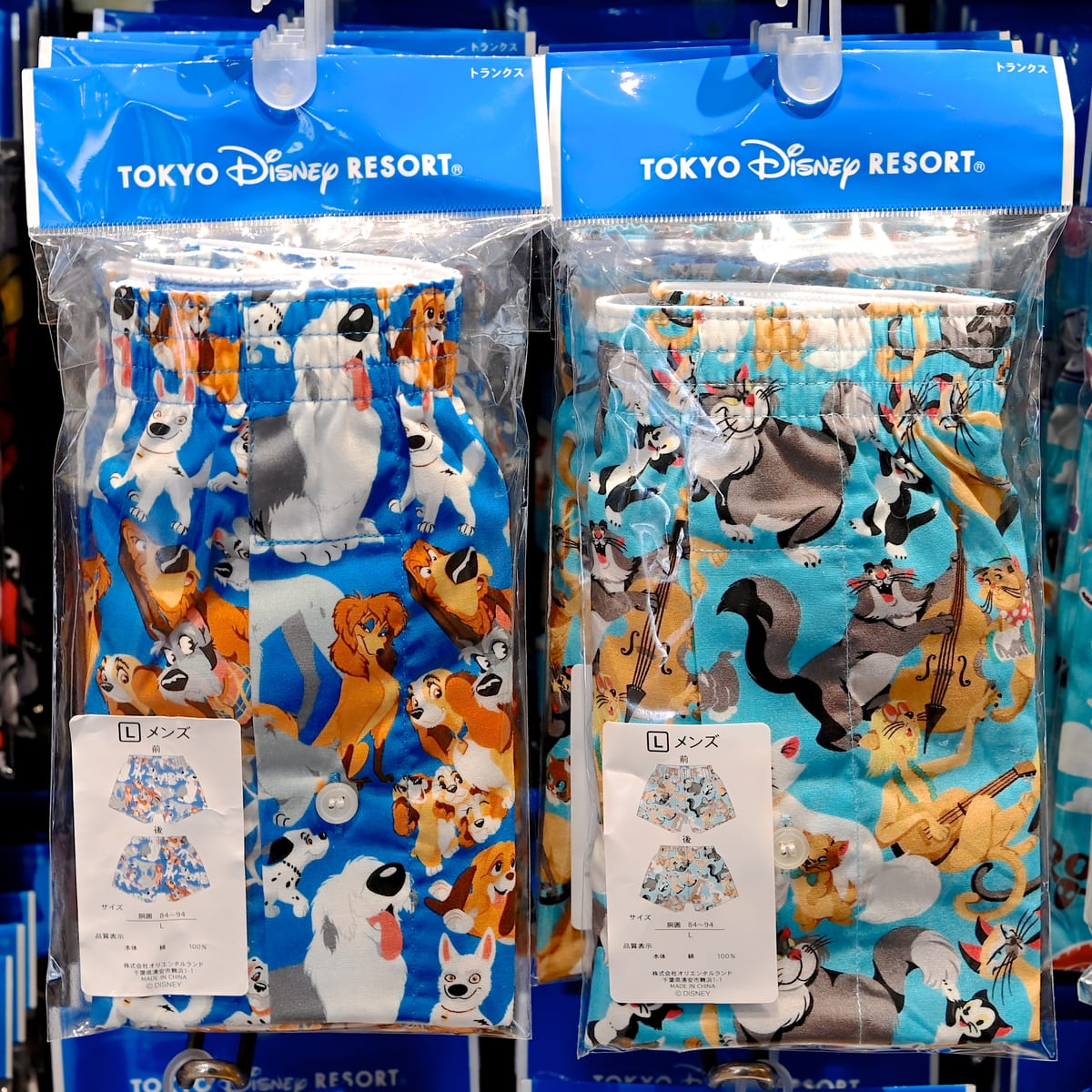 東京ディズニーランド 犬・猫キャラクターパンツ