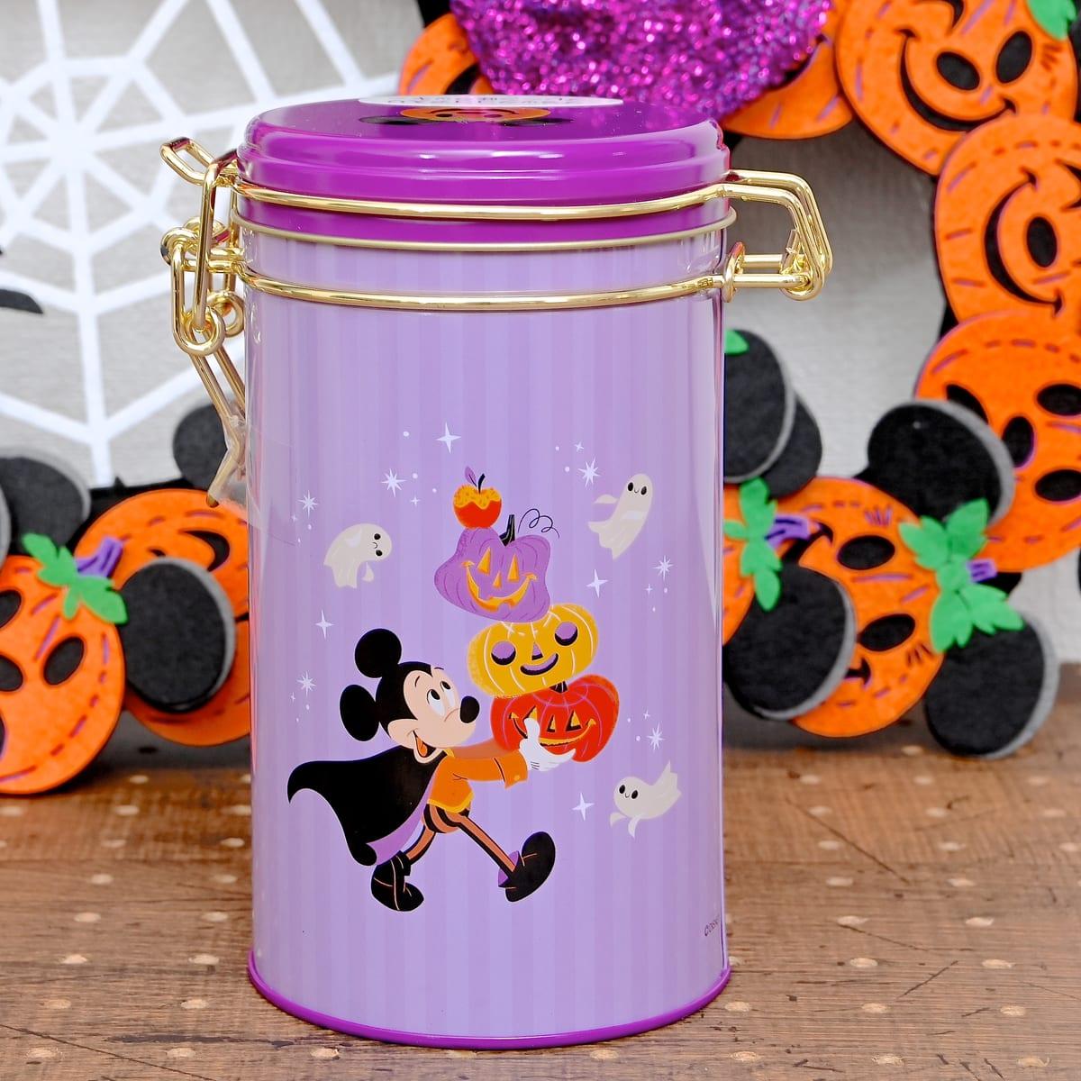 ミッキー&フレンズ クッキー キャニスター缶入り Disney Halloween 2021 バックデザイン