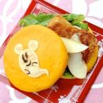 フライドチキンとリンゴのサンドウィッチ1